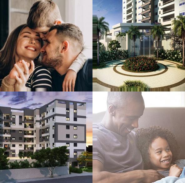 Fotos de apartamentos e famílias